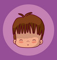 cute boy face cartoon vector image vector image