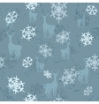 deer with snowflakes vector image vector image