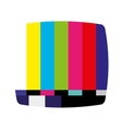 display tv isolated icon vector image vector image