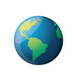 earth planet isolated vector image
