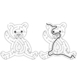 Easy teddy bear maze vector image vector image