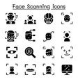 face dection face recognition face scanning icon vector image vector image