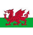 flag of wales in national colors vector image