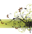 floral background design vector image vector image