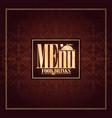 food and drinks menu design vintage card brown vector image vector image