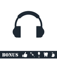 Headphones icon flat vector image vector image