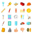 home renovation icons set cartoon style vector image vector image