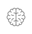 human brain line icon healthy internal organ vector image vector image