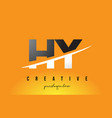 hy h y letter modern logo design with yellow vector image vector image