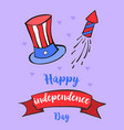 independence day celebration greeting card vector image vector image