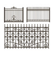iron fences vector image vector image