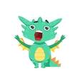 Little Anime Style Baby Dragon Shouting And vector image vector image