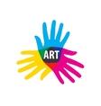 logo hand vector image vector image