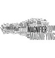 magnifying word cloud concept vector image vector image