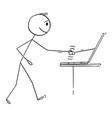 man or businessman shaking hand online business vector image
