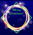 merry christmas greeting card or banner dark blue vector image