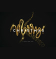 merry christmas melted gold 3d type quote card vector image