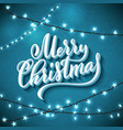 merry christmas template for holiday greeting vector image