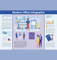 modern office infographic set with business people vector image
