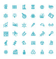 modern thin line icons set biochemistry vector image vector image