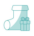 monocromatic sock design vector image vector image