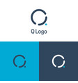 q logo and icon vector image vector image