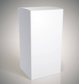 Realistic white package box for products put your vector image vector image