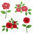 Red Roses Heart Shape inside vector image