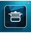 saucepan food menu kitchen soup pot design vector image