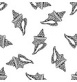 seamless pattern with conch shells on white vector image vector image