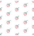 seamless pattern with hand drawn strawberries on vector image