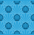 seamless pattern with marine animals underwater vector image vector image