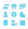 Set color line icons of magnetic resonance imaging vector image
