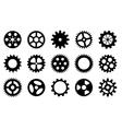 set gear wheels vector image vector image