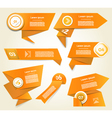 Set of orange progress version step icons eps 10 vector image vector image