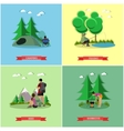 set of summer recreation concept banners in vector image vector image