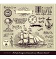 set travel symbols vector image