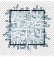 Silver randomly scattered stripes with black frame vector image