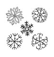 snowflake winter set vector image vector image
