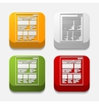 square button interface vector image vector image