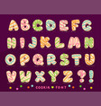 sweet cookie font vector image