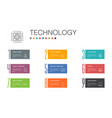 technology infographic 10 option line concept vector image