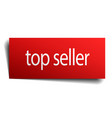 top seller red paper sign on white background vector image vector image