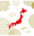traditional japan background with country map vector image