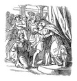vintage drawing biblical story joseph vector image