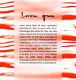 Watercolor design element red brash vector image vector image