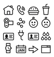 Website application line icons set vector image