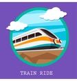 Train railway emblem Flat design vector image