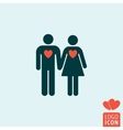 Man and woman icon isolated vector image