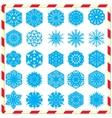 Snowflake silhouettes set vector image